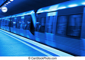 station, métro, plan