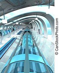 station, metro, zukunftsidee