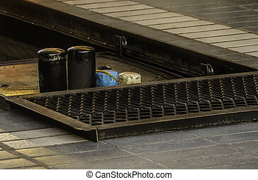 station, olja, avsluta, dag, ändring