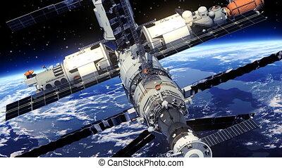 station, orbiter, espace, la terre