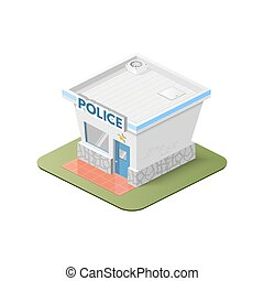 station., polizia, illustrazione