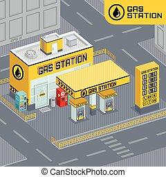 station essence dessin anim vecteur illustration essence station dessin anim. Black Bedroom Furniture Sets. Home Design Ideas