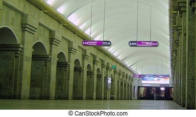 station., temps, lapse., métro, gens