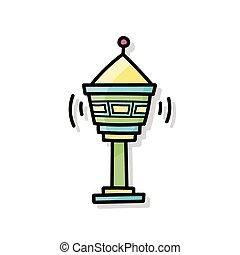 Station tower doodle