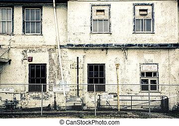 station, train, abandonnés, vieux