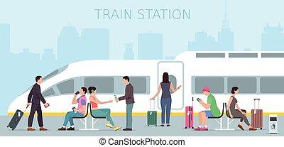 station., viagem trem