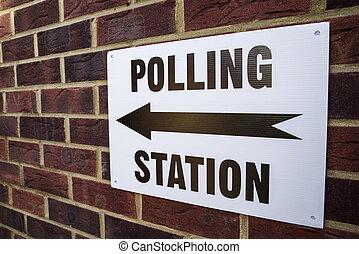 station, vote