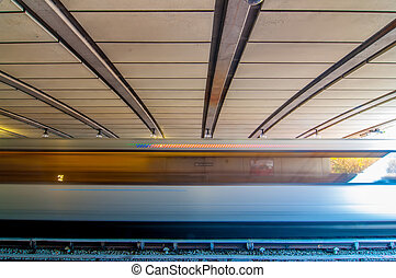 station, zug, bewegen, metro