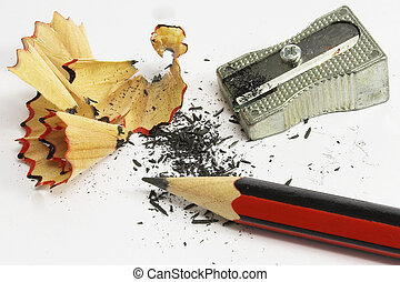 Pencil Eraser and pencil sharpener