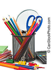 Stationary appliances for office, school and home.