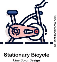 Stationary bicycle Line Color
