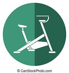 stationary bicycle machine gym sport shadow