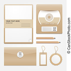 stationary brown paper/vector