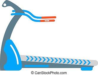 Stationary exercise bike sport gym machine health activity vector.