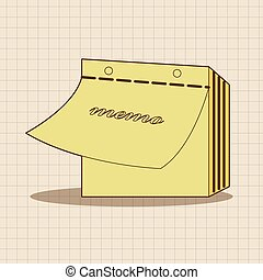 stationary note theme elements vector, eps