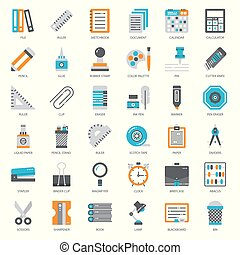 Stationary, pixel perfect flat icon, isolated on white ...