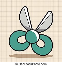 stationary scissors theme elements vector, eps