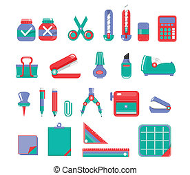 Stationary Set Vector 3 color