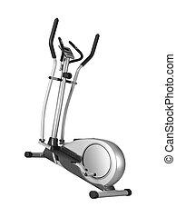 Stationary training bicycle
