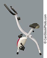 Stationary training bike.