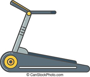 Stationary exercise bike sport gym machine health activity vector.
