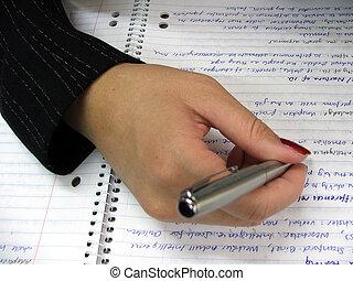 stationary-writing
