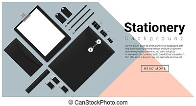 Stationery accessories background 1
