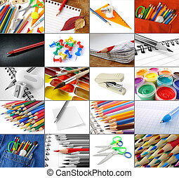 some school and office supplies collection