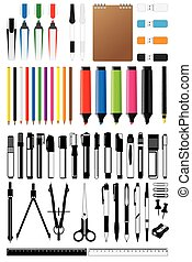 stationery collection vector