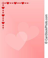 stationery:, corações