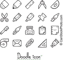 Stationery. - Cute stationery icons.