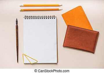 Stationery for work in office