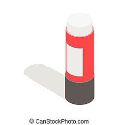 Stationery glue icon, isometric 3d style - Stationery glue...