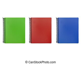 Stationery Items - Stationery items isolated against a white...