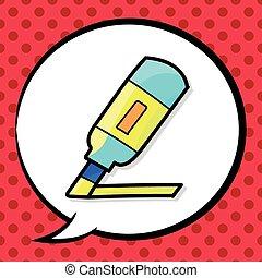 stationery marker color doodle