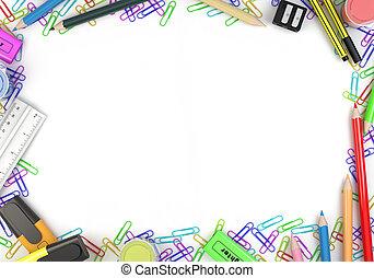 stationery objects frame