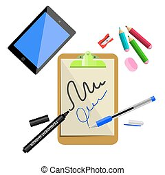 Stationery, office supplies.