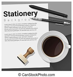 Stationery scene with office equipment background 13
