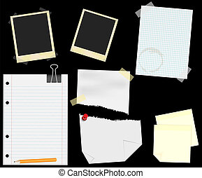 Stationery - Scrapbooking - Stationery - Blank Aged Photo...