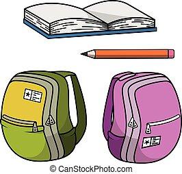 stationery, scuola