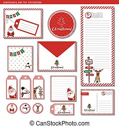 Stationery set Merry Christmas