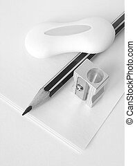 stationery set in black and white...