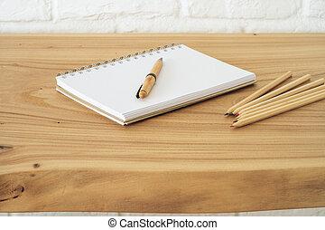 stationery, tavola, articoli ufficio