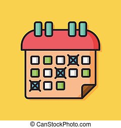 stationery vector calendar icon