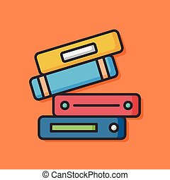 stationery vector office files icon