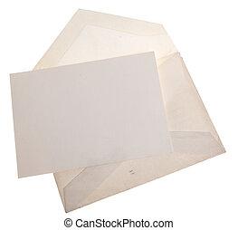 stationnaire, enveloppe