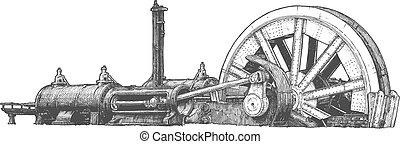 stationnaire, locomotiveà vapeur