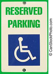 stationnement, signe réservé