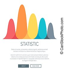 Statistic Presentation with Colorful Bar Graph