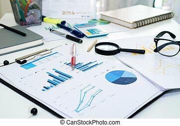 statistica, grafico, affari